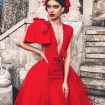 Foto: The Lie by JPZ; poročna kolekcija Bridal (rdeča obleka)